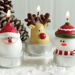 Mini Whimsical Holiday Tea Light Candles