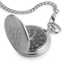 Pocket Watch with Black Dial