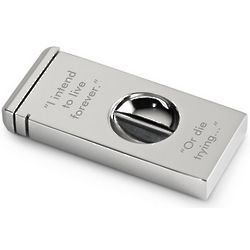 Engravable Zinc Cigar Cutter