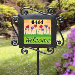 Personalized Flower Garden Stake