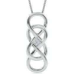 Infinity X Infinity Diamond Pendant in Sterling Silver