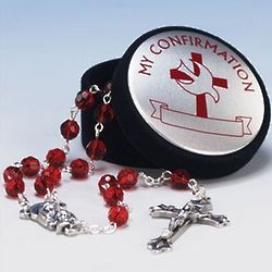 My Confirmation Rosary Box and Ruby Rosary