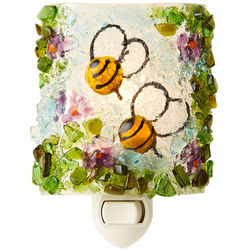 Recycled Glass Bee Nightlight