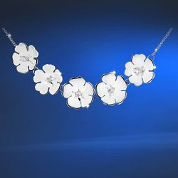 Silver-Plated Waterlily Necklace