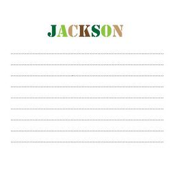Kid's Personalized Camo Notecards