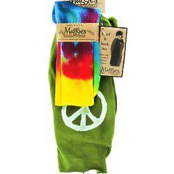 Olive Scarf & Tie Dye Sock Organic Gift Set