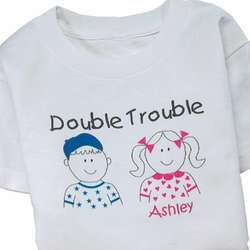 Personalized Double Trouble Youth T-Shirt