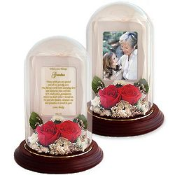 Real Preserved Roses Poetry Dome for Grandma