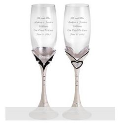 Mr. & Mrs. Champagne Toasting Flutes