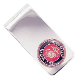 Personalized U.S. Marines Money Clip