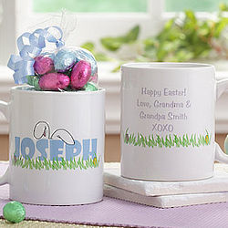 Personalized Ears to You Easter Mug and Chocolate Eggs