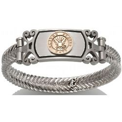 Women's Gold and Stainless Steel US Marines Bracelet