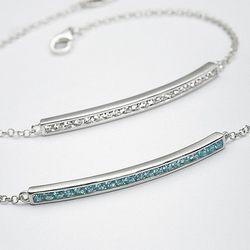 Sterling Silver Channel Birthstone Bracelet