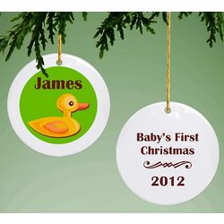 Babys First Christmas Ducky Ornament