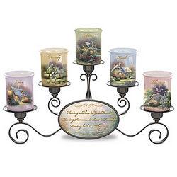 Thomas Kinkade Light of Home Candleholder Set