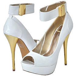 White Patent Women Platform Sandals