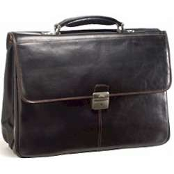 Verona Triple Section Italian Briefcase