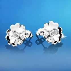 Silver-Plated Waterlily Earrings
