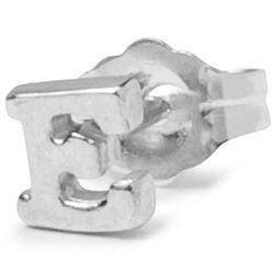Sterling Silver Alphabet Stud Earring