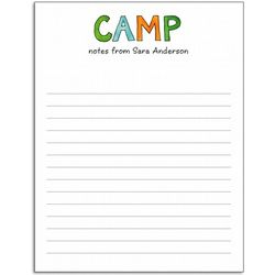 Personalized Camp Note Pad