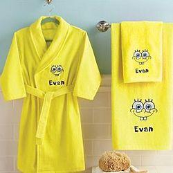 Personalized SpongeBob Hand Towel