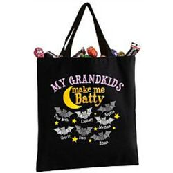 Halloween Personalized Batty Tote