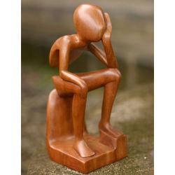 Pensive I Wood Sculpture