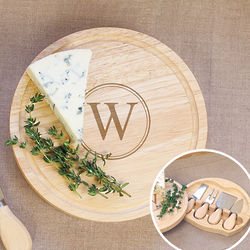 Personalized Gourmet Cheese Board Set