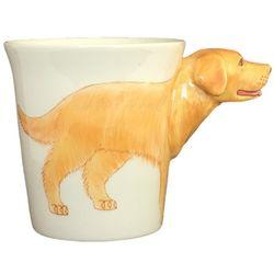 Golden Retriever Handpainted Sculptured Ceramic Mug