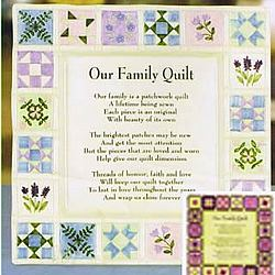 Our Family Quilt Wall Plate