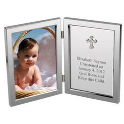 Silver Cross Christening Personalized Message Frame
