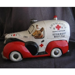 K-9 Ambulance Cookie Jar