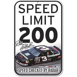 Dale Earnhardt #3 Speed Limit Sign