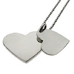 Secret Message Engravable Stainless Steel Heart Pendant