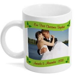 Our First Christmas Personalized Photo Coffee Mug