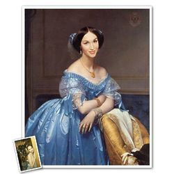 Lady in Blue Portrait Print from Photo