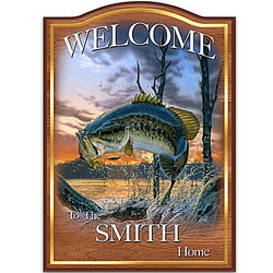 Angler's Glory Personalized Welcome Sign Wall Decor