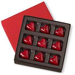 Dark Chocolate Hearts Gift Box
