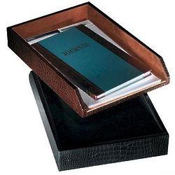 Crocodile Leather Desk Tray