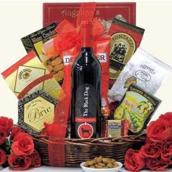 The Black Dog Cabernet Sauvignon Gourmet Wine Gift Basket