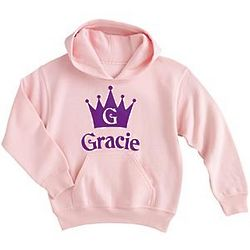Girl's Personalized Crown Hoodie