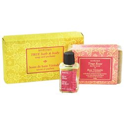 True Rose Bath and Body Soap and Perfume Gift Set