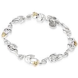 Sterling Silver Irish Shamrock Bud Irish Bracelet