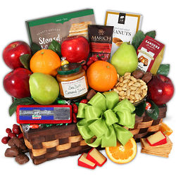 Condolence Fruit and Snack Gift Basket