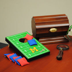 Michigan Wolverines Table Top Toss Football Field