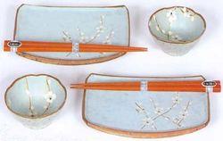 Spring Blossom Japanese Sushi Plates