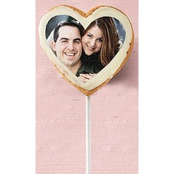 "3"" Heart Photo Cookie Pops"