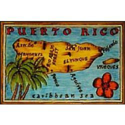 Puerto Rico Map Leather Photo Album