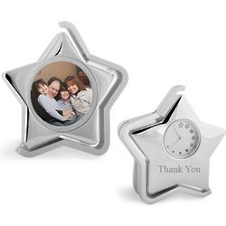 Shimmering Star Clock and Photo Frame