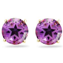 Amethyst Star Stud Earrings